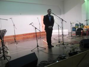 Ο κ. Χρήστος Γκάρτζιος, αντιδήμαρχος Πολιτισμού έκανε την παρουσίαση της εκδήλωσης