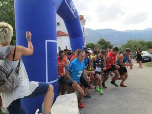Η εκκίνηση του αγώνα Ορεινού Τρεξίματος στο Πολυστάφυλο