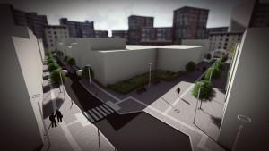 Φωτορεαλιστικό διαμόρφωσης της οδού Μπιζανίου
