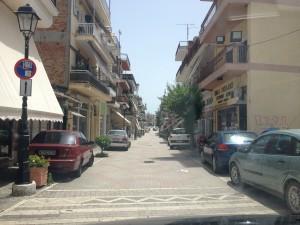 Υφιστάμενη κατάσταση οδού Μπιζανίου