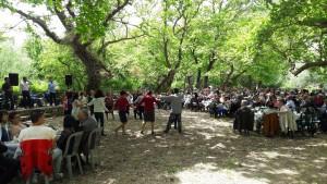 Στιγμιότυπο από παλαιότερη εκδήλωση στο Πλατανόδασος Αγίου Γεωργίου, όπου στις 14 Αυγούστου θα φιλοξενηθεί συναυλία με την Γλυκερία.